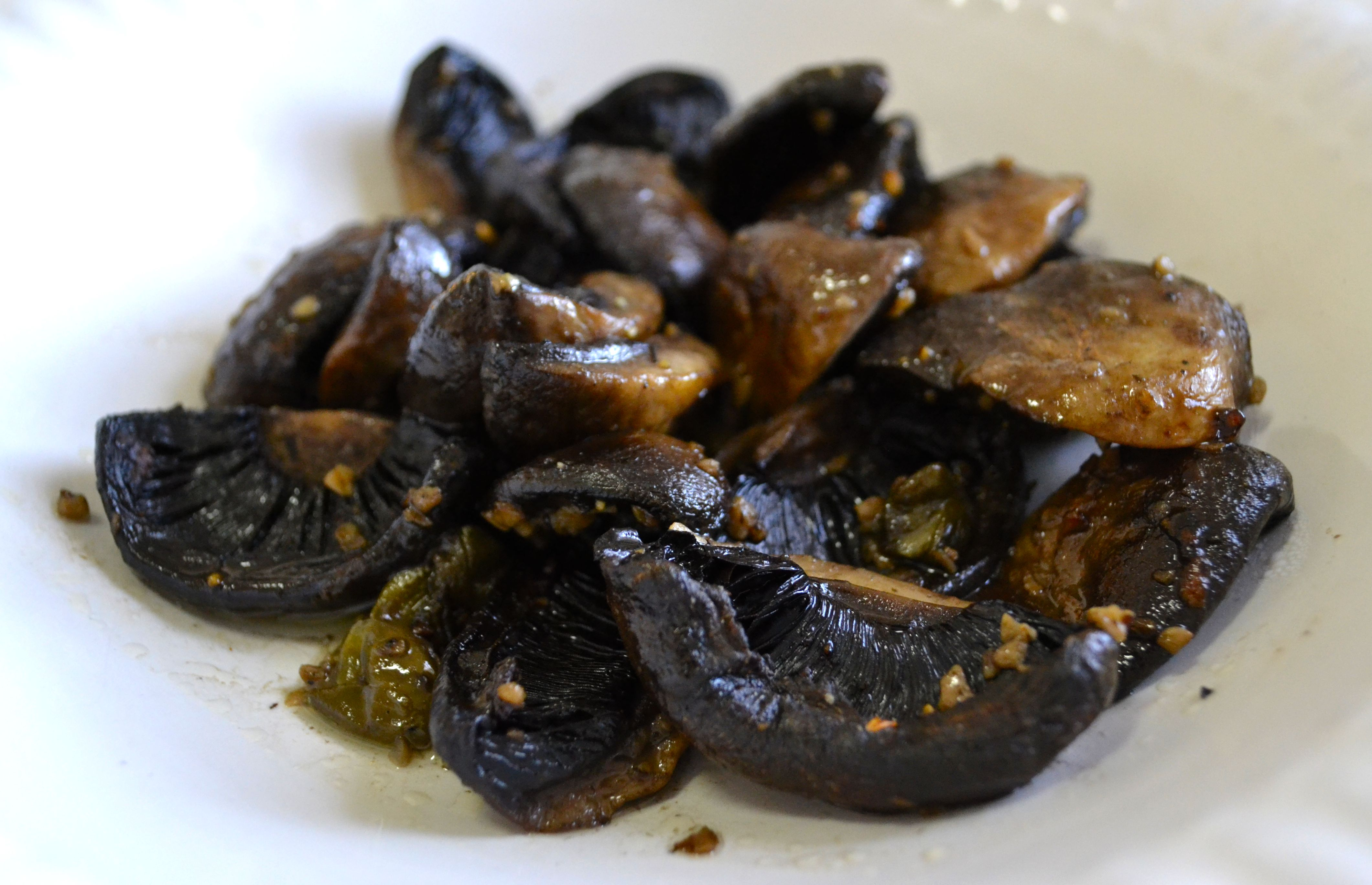 Roast Mushrooms ( serves one)